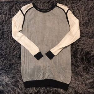 BCBG Maxazria Sweater with Open Knit Sleeves